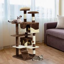 PawHut Kitten Cat Tree 132cm Scratching Post Condo Toys Furniture Climbing Tower