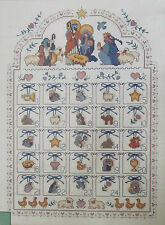 Blessed Nativity Advent Calendar Counted Cross Stitch Kit 8416 Dimensions USA
