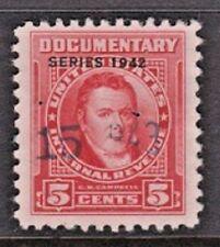 US Scott # R340 5c 1942 Documentary Revenue Stamp USED PH HC VF.XF