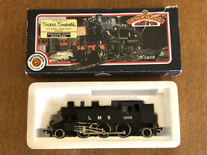 Bachmann 31-453 Ivatt 2-6-2 Tank 1206 LMS Un-Lined Black Locomotive - OO Boxed
