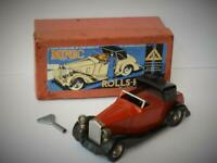TRI-ANG MINIC BOXED TINPLATE ROLLS ROYCE SEDANCA 50ME ELECTRIC HEADLIGHTS 1937