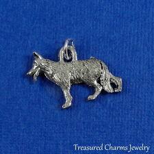 Silver GERMAN SHEPHERD Dog CHARM PENDANT *NEW*