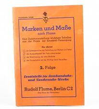 BUCH ... ERSATZTEILE F ARMBANDUHR & TASCHENUHR WERKE  F. UHRMACHER WATCHMAKER