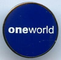 American Airline International Alliance Oneworld Pin Badge Nice Grade !!!