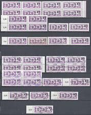 DDR. 36 Dienstmarken B, postfrisch
