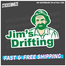 JIMS DRIFTING Sticker Decal Funny Bogan Beer 4x4 Drifting JDM YTB Drift