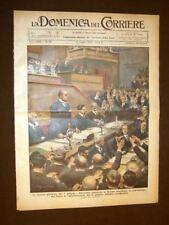 La Domenica del Corriere 18 giugno 1933 Duce Mussolini, Biella, Paracadutismo