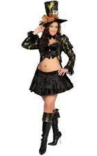 Mad Hatter Costume Womens XL Alice in Wonderland Sexy 4pc Set Roma NEW