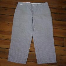 EWC Professional Chef Cook Elastic Waist Kitchen Work Uniform Pants 42 x 26