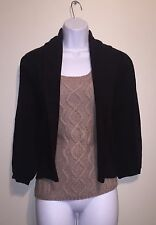 Nwt Agua By Bloomingdale's 100% Cashmere Brown Cardigan Size L