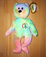 PEACE Ty Beanie Original Baby 1996 Retired Original Tag Gasport ERRORS RARE