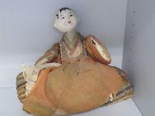 poupée Japonaise céramique paille 19ème Japanese doll straw ceramic bambola hina
