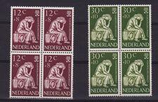 NVPH 736-737 Postfris in BLOKKEN van 4 MNH Vluchtelingenzegels 1960 CW € 14