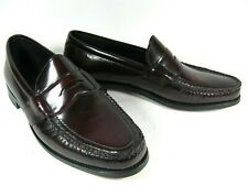 Bostonian Men's Shoes Penny Loafers Burgundy Cordovan Leather 10M NEW USA VTG