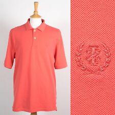 Para Hombre Izod Rosa Camiseta Polo Golf Casual Sportswear Preppy Estilo Retro de Superdry Pique L
