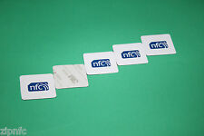 5  ZipNFC Topaz Anti-Metal 512 High Capacity NFC tags stickers Android Windows