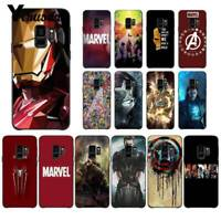 Marvel comics Avengers heroes Ironman soft case cover for samsung s6 s7 s8 s9 +
