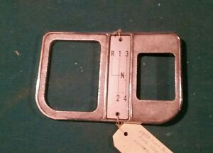 1958-1962 Corvette original floor shift plate bezel 3757865 1959 1960 1961 Chevy