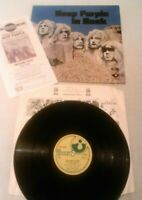 DEEP PURPLE - IN ROCK LP + COPY OF RARE PROMO ADVERT EX (+) !!! UK HARVEST A2 B1