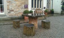Basalt Table & 4 Stool set