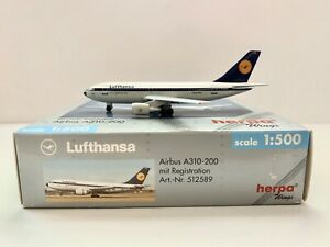 1:500 Herpa Wings Lufthansa Airbus A310-200  Part 512589
