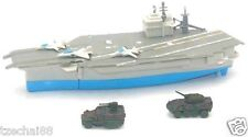 "Navy Carrier 9.5"" Aircraft Carrier and Two Tank Grey Color Model COLLECTION New"