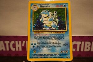 Pokemon Card - BLASTOISE HOLO - 2/102 - BASE SET WOTC 1999