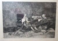 antique original 1800's figural scene LOUIS-ALEXANDRE LELOIR French engraving