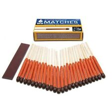 NEW UCO Stormproof Matches 25-Pack w/Strikers Windproof Waterproof Survival Gear