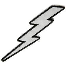 Embroidered Reflective Lightning Bolt Left Iron on Sew on Biker Patch Badge