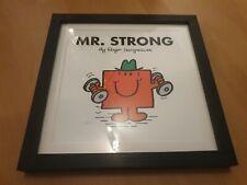 Wandbild Bild Mr. Strong mit Bilderrahmen 33 x 33cm