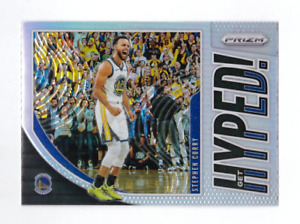 2019/20 Panini Prizm STEPHEN CURRY Get Hyped Silver Prizm Mint Warriors