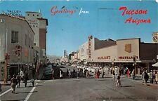 TUCSON AZ 1961 Congress Street Scene Old Cars Stores People VINTAGE ARIZONA GEM+