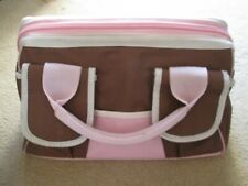 Craft Storage Tote Bag - Brown/Pink