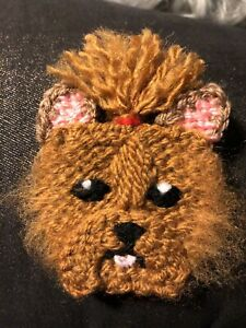 YORKSHIRE TERRIER KNITTED BROOCH