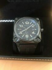 Torgoen Swiss Men's T26 Series Classic Black Watch w/ Blue Accents - BRAND NEW