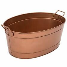 Large Firewood Bucket Bin Fireplace Copper Finish Indoor Log Wood Holder