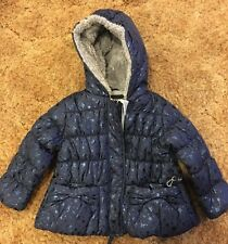 Rothschild Toddler Girls Puffer Coat Size 24 Months Blue With Hood