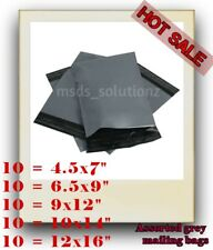 50 Assorted Grey Mailing Bags of 5 Mixed Sizes Packaging Plastic Postal Packing