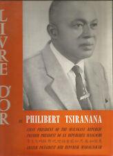 Livre d'or de Philibert Tsiranana, président de la république malgache.