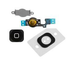Home Menu Button Key Cap + Flex Cable + Bracket Holder for Apple iPhone 5C BLACK
