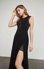 NWT BCBG Max Azria Valentine Metallic Burnout Gown Black size 0