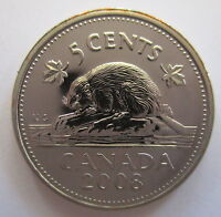 2008 CANADA 5 CENTS SPECIMEN NICKEL COIN