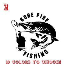 Pike Fishing Vinyl Stickers decals,car,window,van, Laptop (REF NO 2)CAR, VAN