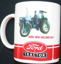 Ford tractor collector coffee cup mug New Holland 8730 gift travel ceramic drink