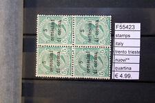 FRANCOBOLLI STAMPS ITALY TRENTO TRIESTE NUOVI** QUARTINA ( F55423)