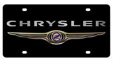 New Chrysler Gold Logo Acrylic License Plate