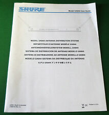 Original Shure Model UA844 User Guide