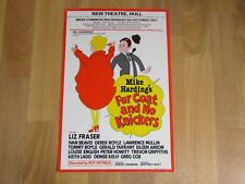 Mike Harding's Fur Coat and no Knickers 1981 Original New Theatre HULL Poster