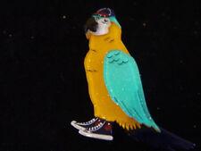 ERSTWILDER COREY THE MACAW BIRD BROOCH